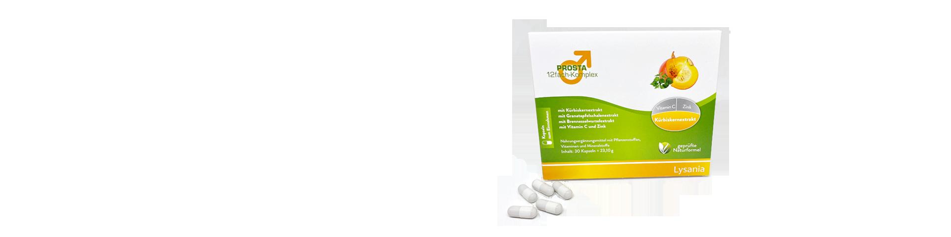 Das beste Hilfsmittel gegen Prostatavergrößerung mit 12 ausgewählten Naturstoffen inkl. Kürbiskerne